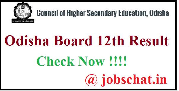 Odisha Board 12th Result