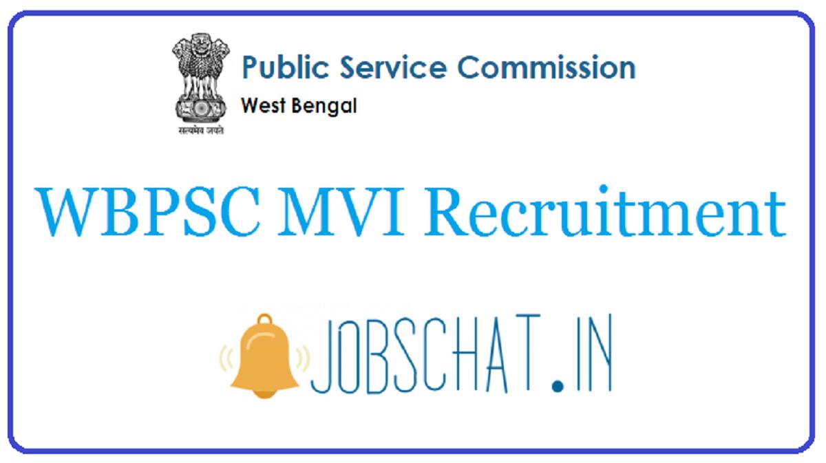 WBPSC MVI Recruitment