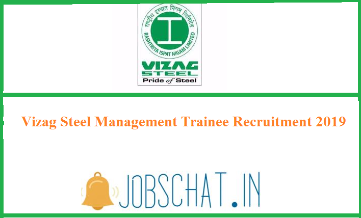 Vizag Steel Management Trainee Recruitment 2019