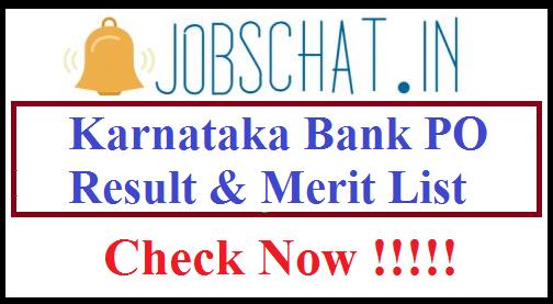 Karnataka Bank PO Result