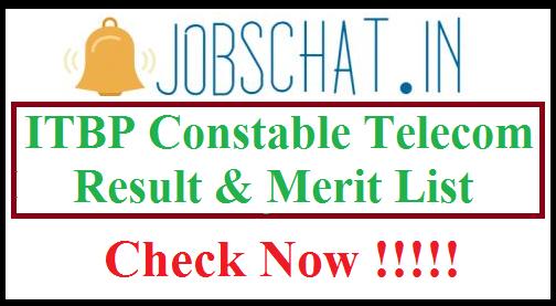 ITBP Constable Telecom Result