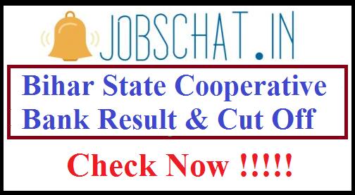 Bihar State Cooperative Bank Result