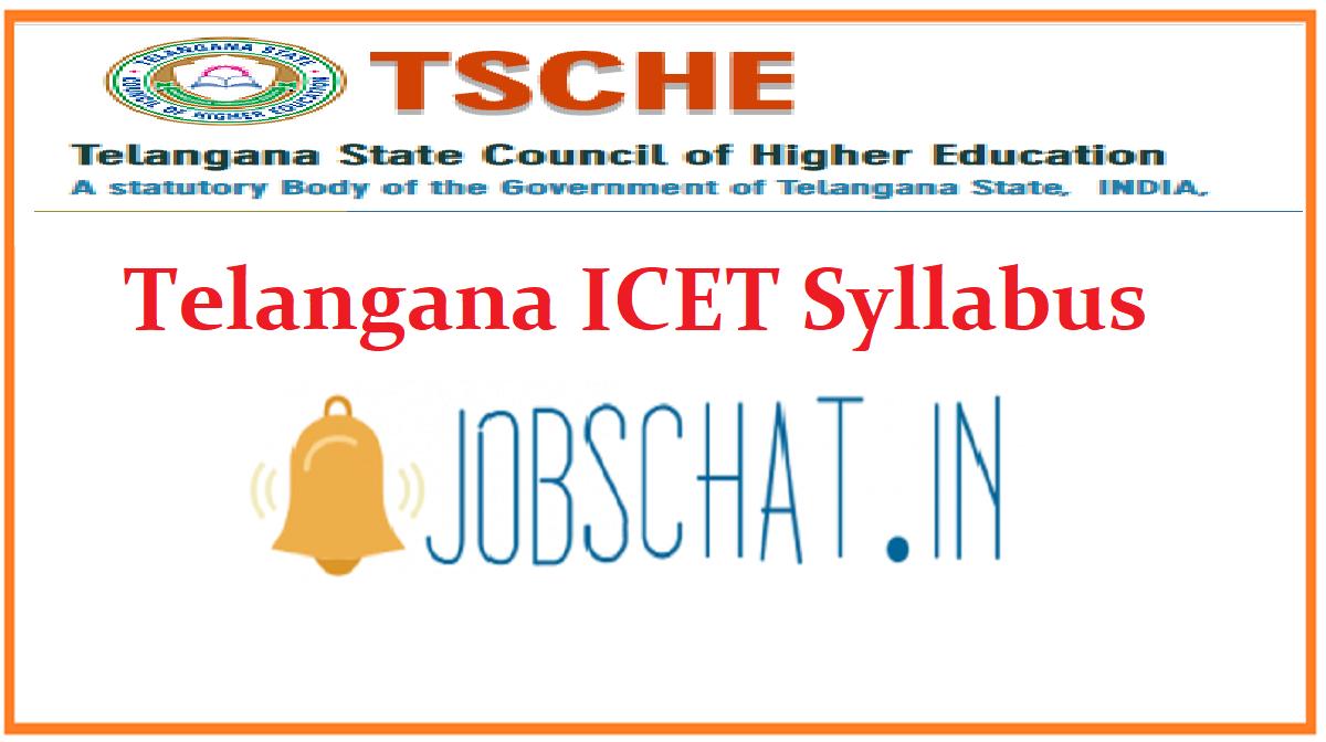 Telangana ICET Syllabus