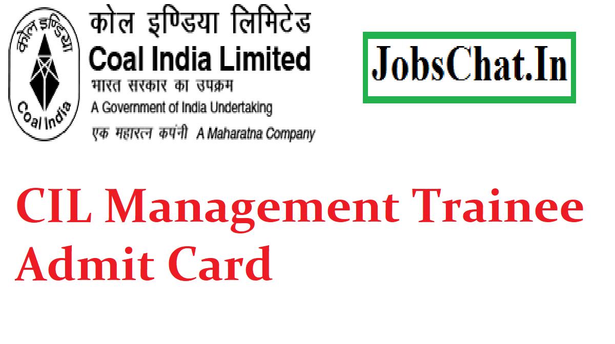 CIL Management Trainee Admit Card