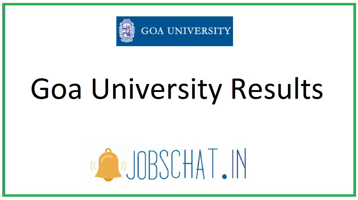 Goa University Results