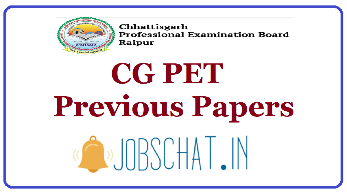 CG PET Previous Papers