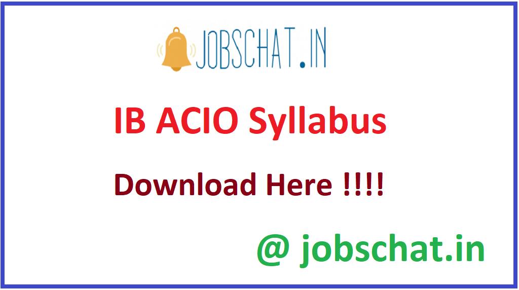 IB ACIO Syllabus