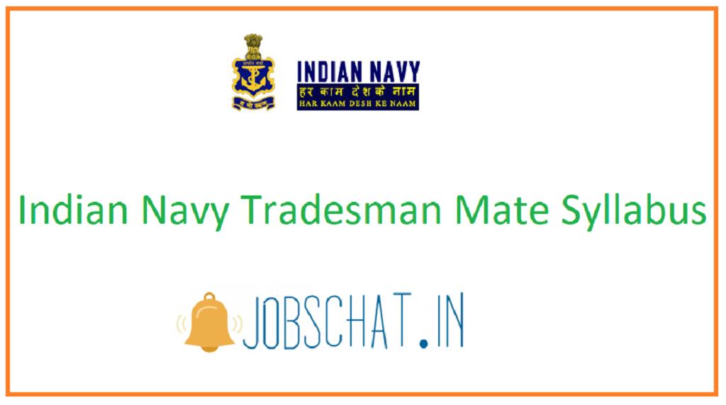 Indian Navy Tradesman Mate Syllabus