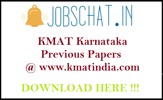 KMAT Karnataka Previous Papers