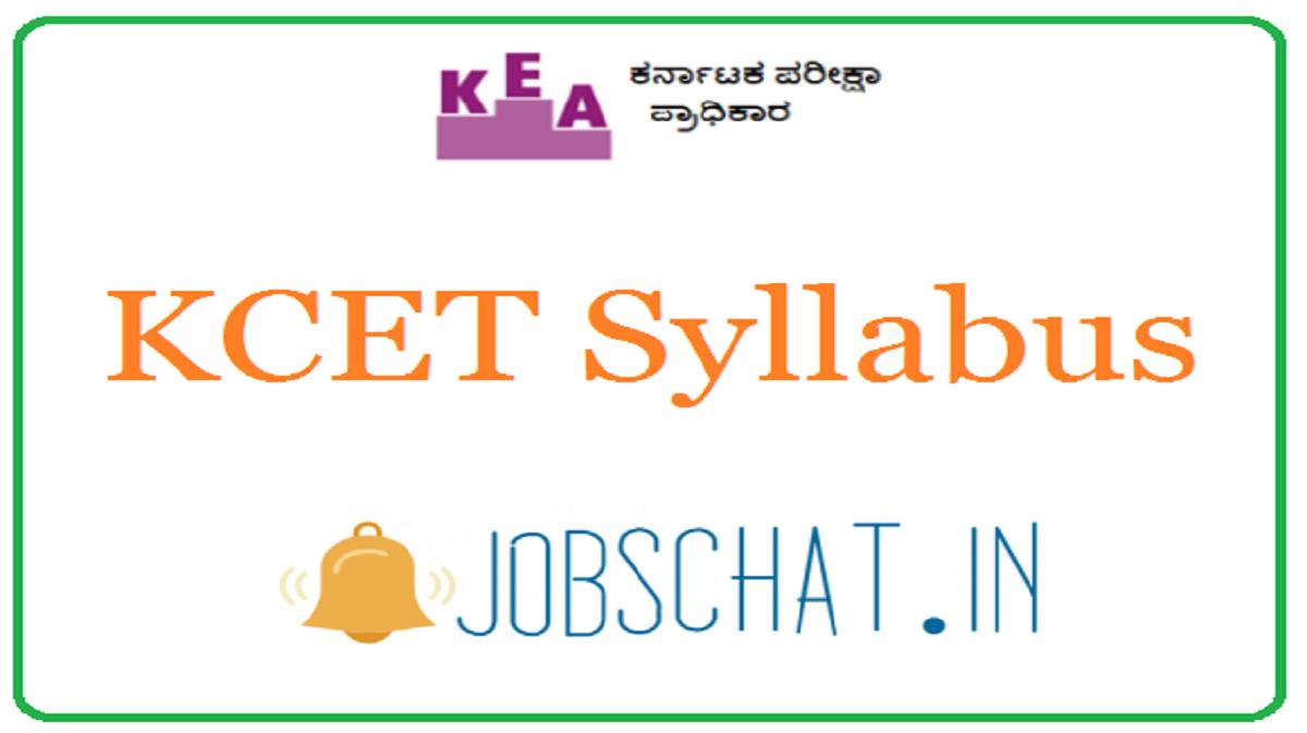 KCET Syllabus