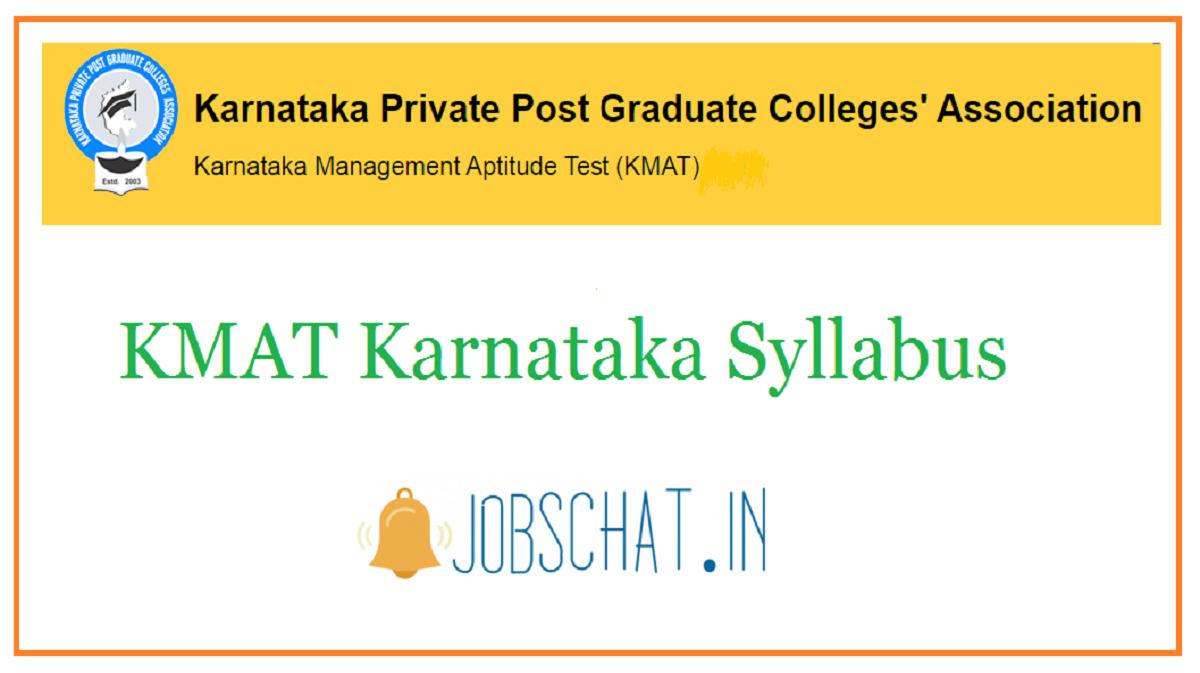 KMAT Karnataka Syllabus