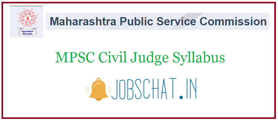 MPSC Civil Judge Syllabus