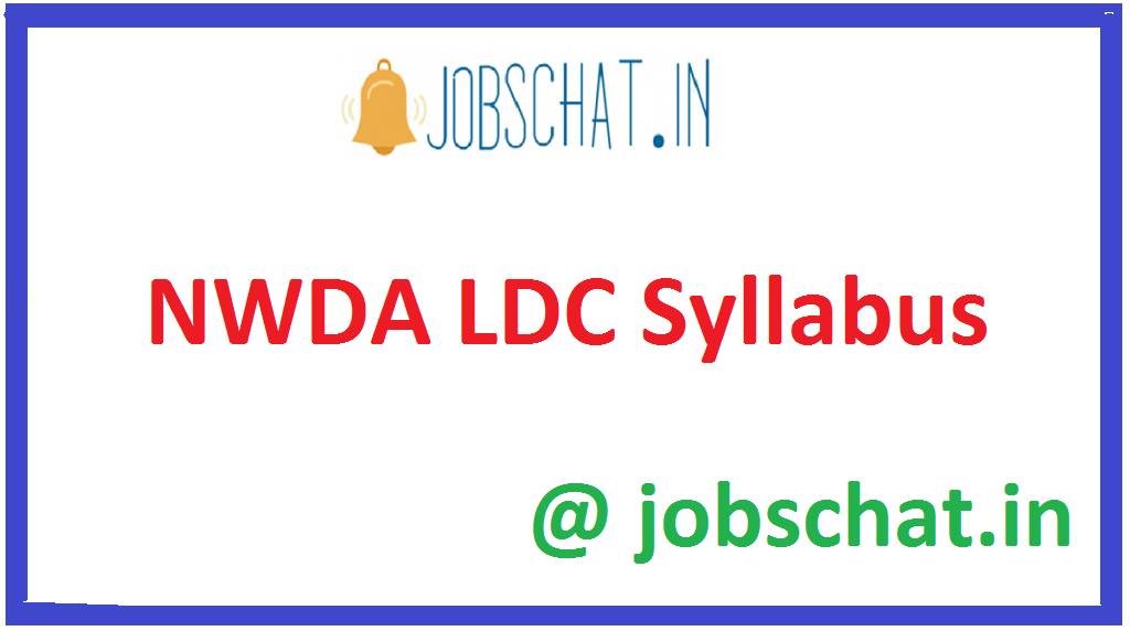 NWDA LDC Syllabus