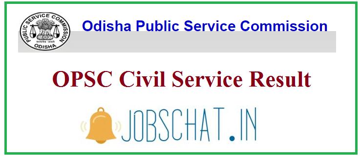 OPSC Civil Service Result