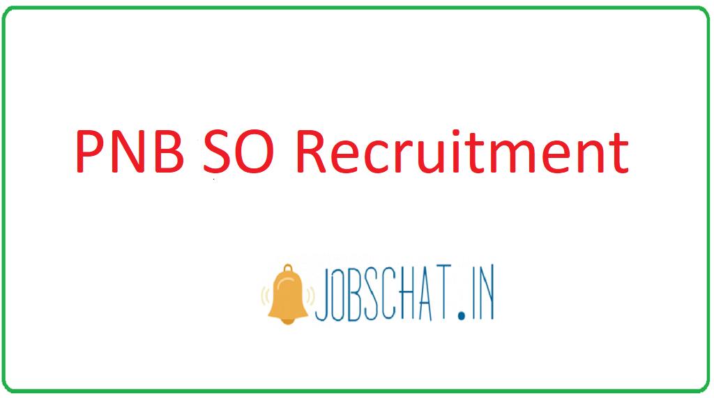 PNB SO Recruitment