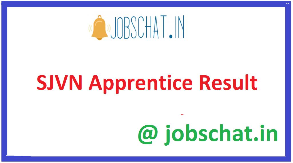 SJVN Apprentice Result