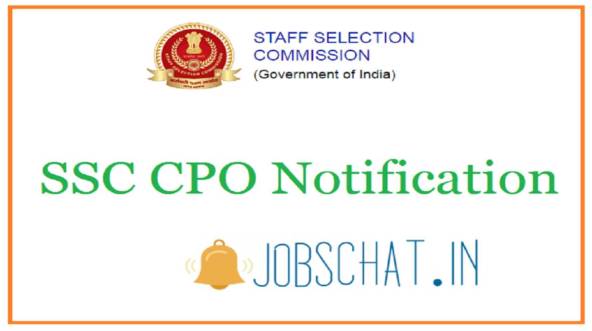 SSC CPO Notification