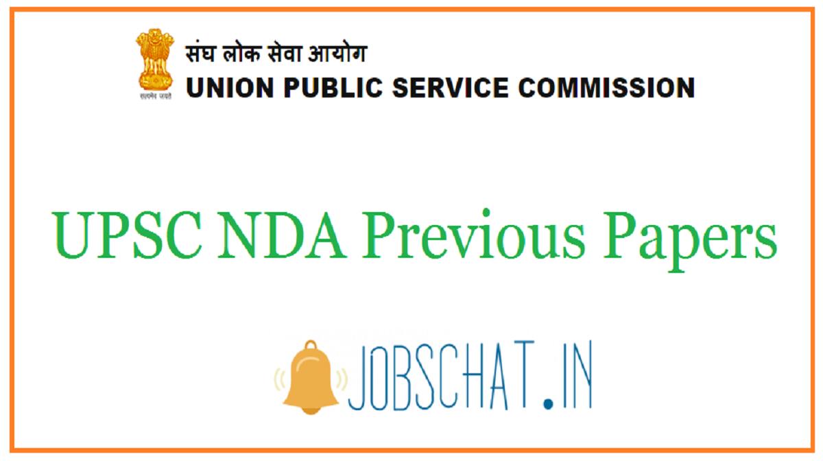 UPSC NDA Previous Papers