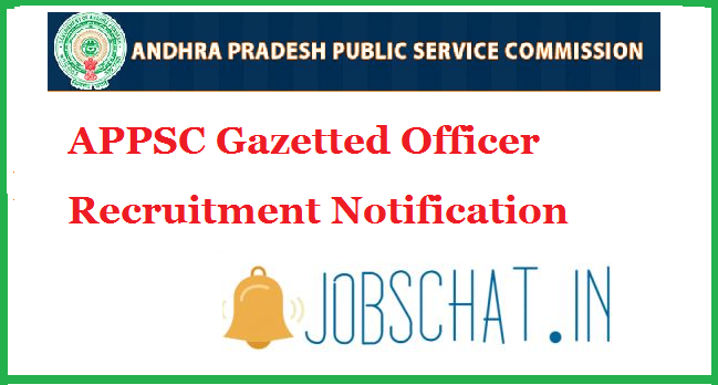 APPSC Gazetted Officer Recruitment