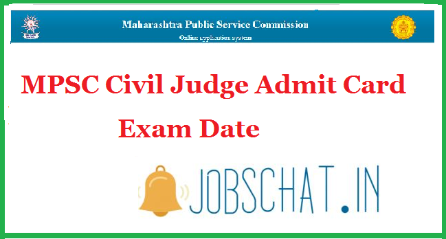 MPSC Civil Judge Admit Card