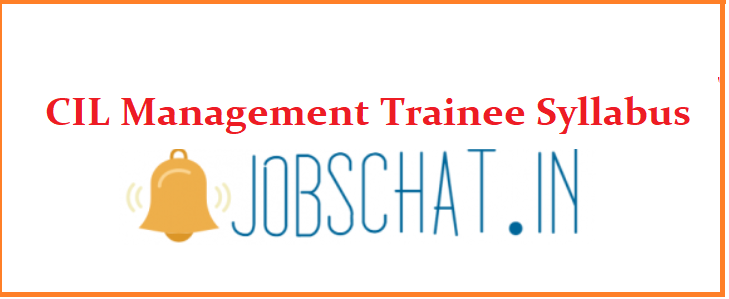 CIL Management Trainee Syllabus