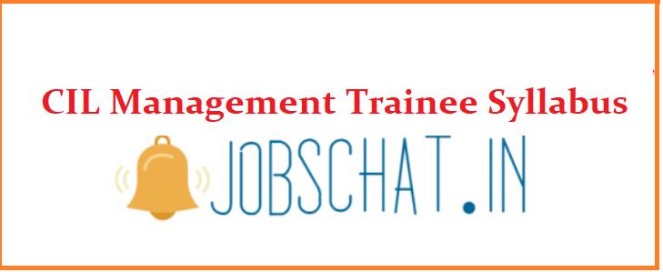 CIL Management Trainee Syllabus