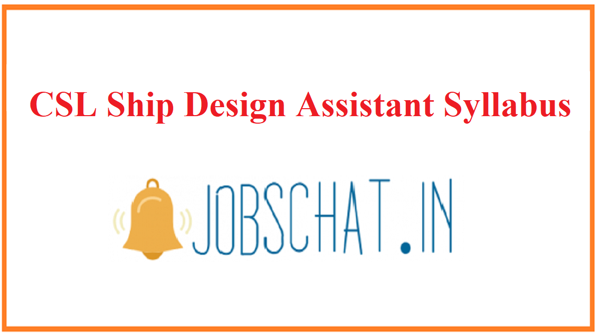 CSL Ship Design Assistant Syllabus