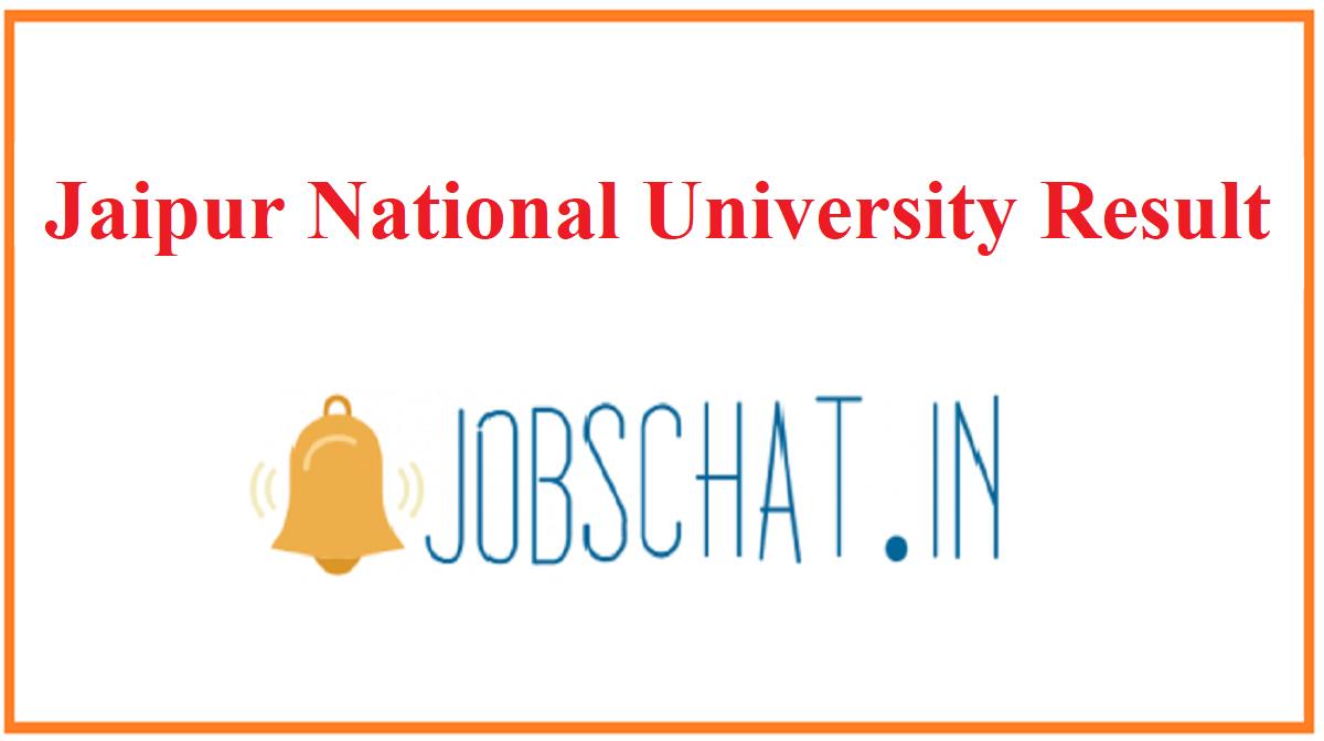 Jaipur National University Result