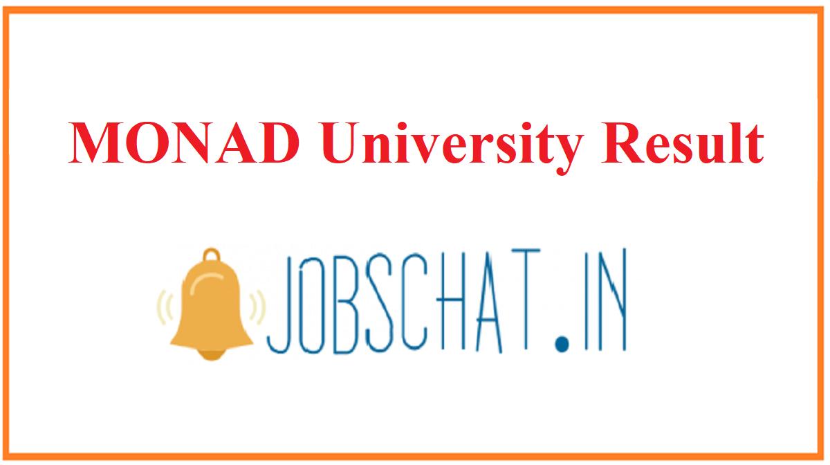 MONAD University Result