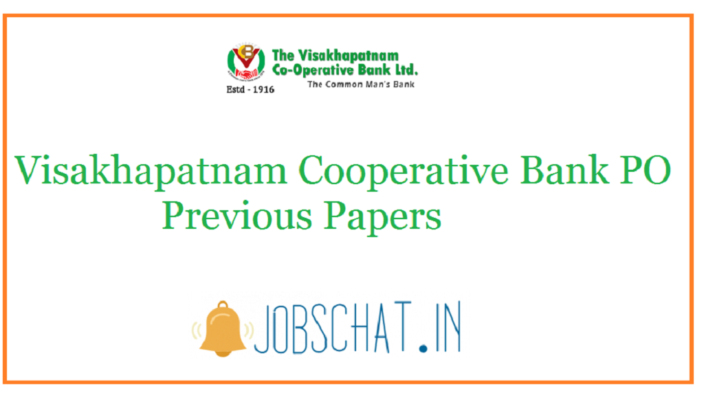 Visakhapatnam Cooperative Bank PO Previous Papers