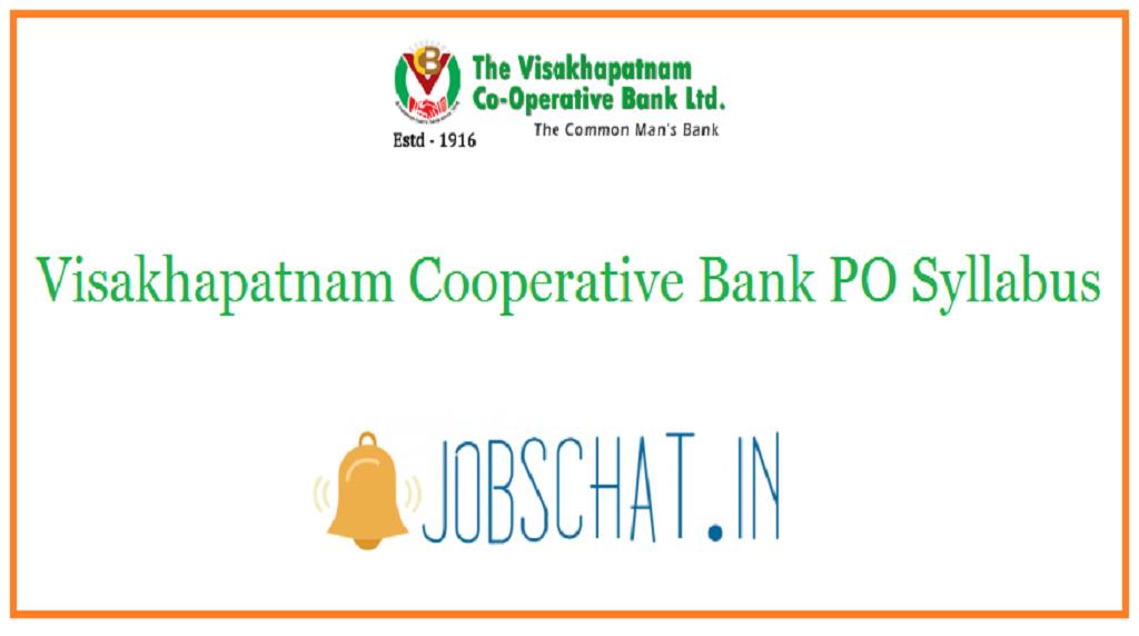 Visakhapatnam Cooperative Bank PO Syllabus