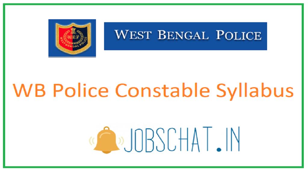 WB Police Constable Syllabus