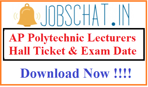 AP Polytechnic Lecturers Hall Ticket
