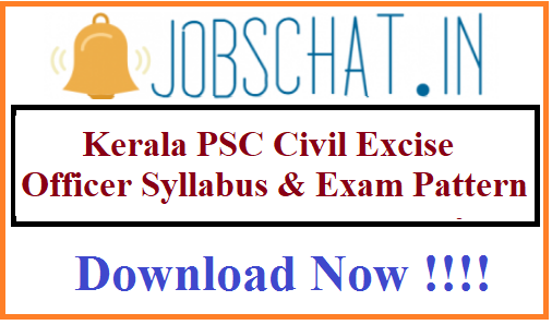 Kerala PSC Civil Excise Officer Syllabus