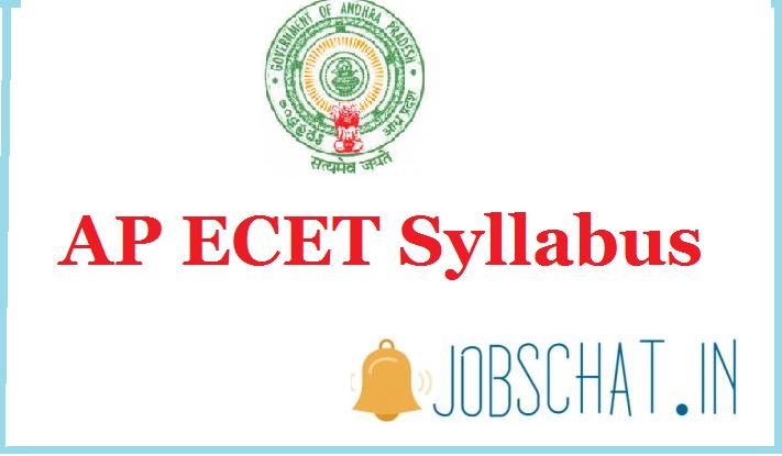 AP ECET Syllabus 2019