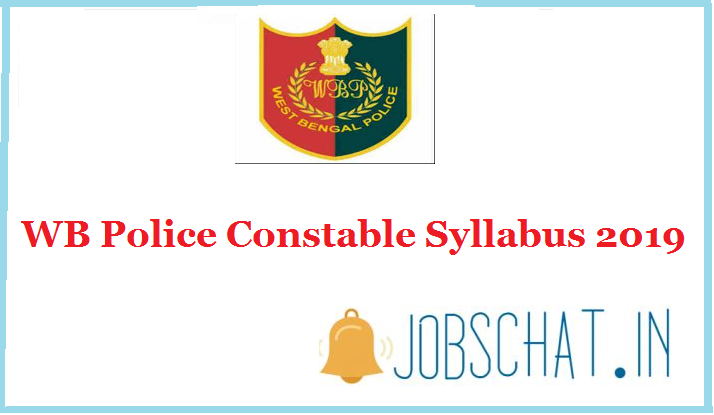 WB Police Constable Syllabus 2019