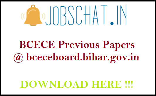 BCECE Previous Papers
