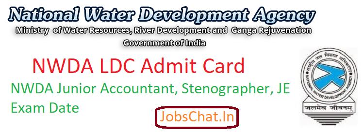 NWDA LDC Admit Card