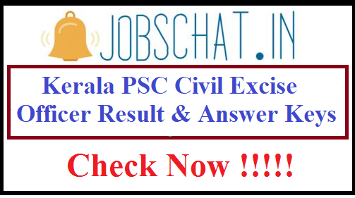 Kerala PSC Civil Excise Officer Result