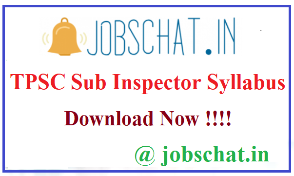 TPSC Sub Inspector Syllabus