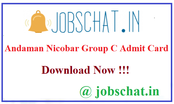 Andaman Nicobar Group C Admit Card