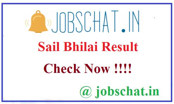 Sail Bhilai Result