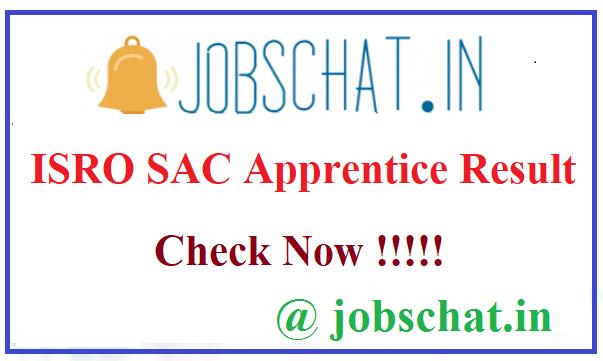 ISRO SAC Apprentice Result