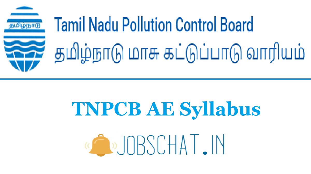 TNPCB AE Syllabus