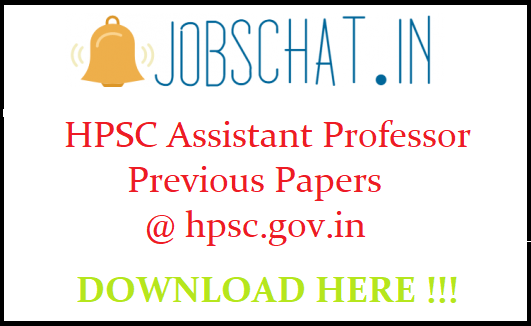 HPSC Assistant Professor Previous Papers