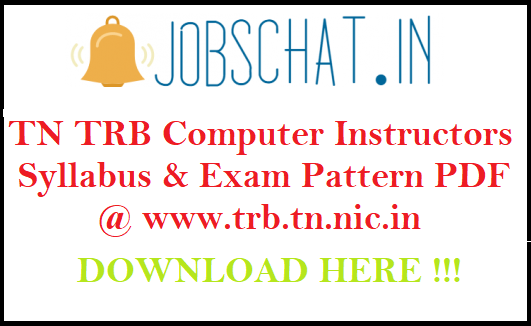 TN TRB Computer Instructors Syllabus