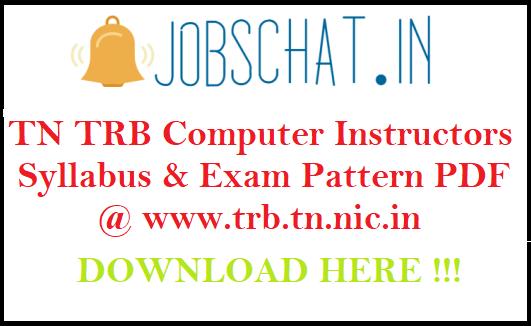 TN TRB Computer Instructors Syllabus