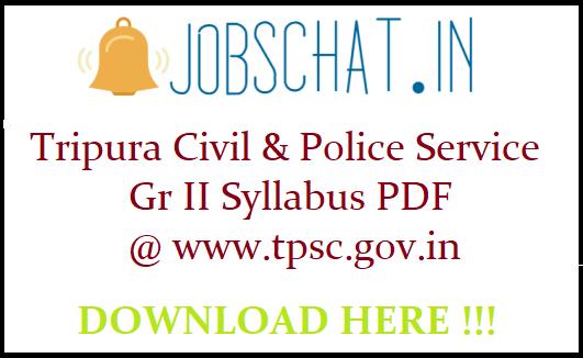 Tripura Civil Service Syllabus