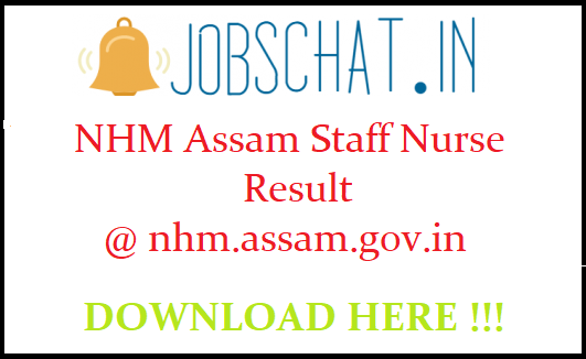NHM Assam Staff Nurse Result