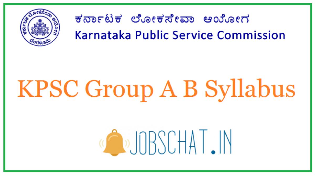KPSC Group A B Syllabus